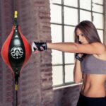 Double End Boxing Dodge Speed Ball PU Leather Inflatable Muay Thai MMA Training Floor to Ceiling Punching Bag Fitness Equipment