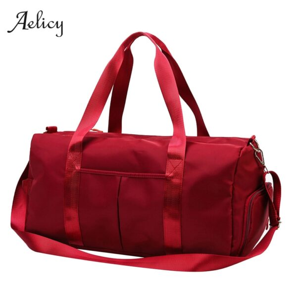 Aelicy Waterproof Woman Sport Bag For Fitness Outdoor Pink Gym Bag Men Nylon Clothing Fitness Bag Girls Training Travel Handbags