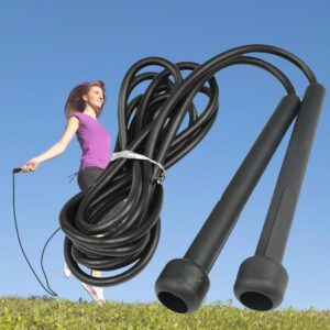 Gym Skipping Rope Boxing Speed Exercise Fitness Black Portable