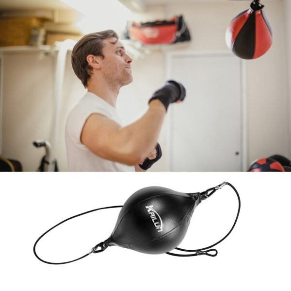 Quality Design Pu Leather Punching Ball Pear Boxing Bag Reflex Speed Balls Fitness Training Double End Boxing Speed Ball