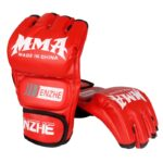 Boxing-Gloves-MMA-Gloves-Muay-Thai-Training-Gloves-MMA-Boxer-Fight-Boxing-Equipment-Half-Mitts-PU-Leather-Black/Red