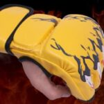 New-Grappling-MMA-Gloves-PU-Punching-Bag-Boxing-Gloves-Black/White-W8861