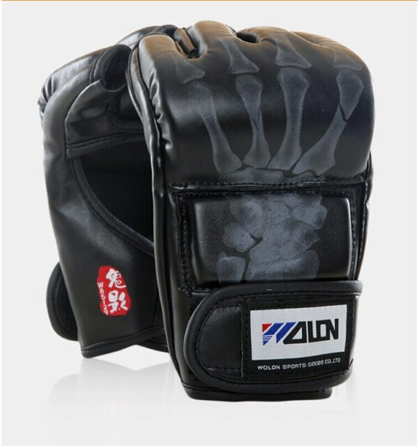 New Grappling MMA Gloves PU Punching Bag Boxing Gloves Black/White W8861