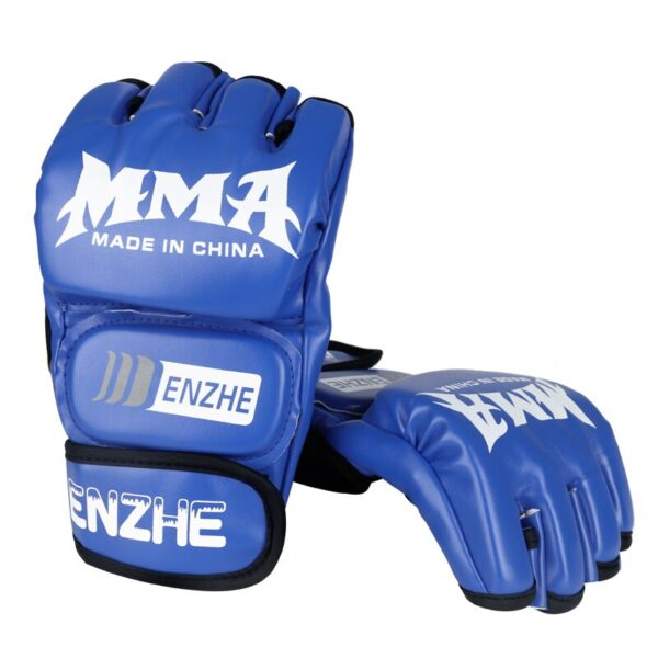 Boxing Gloves MMA Gloves Muay Thai Training Gloves MMA Boxer Fight Boxing Equipment Half Mitts PU Leather Black/Red