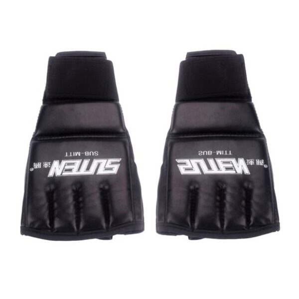 boxing Black Fighting MMA Boxing Sports Leather Gloves Tiger Muay Thai fight box mma gloves boxing sanda boxing glove pads mma