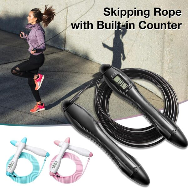 Speed Jump Rope Built In Counter Crossfit Skipping Rope For MMA Boxing Jumping Training Lose Weight Fitness Home Gym Men Women