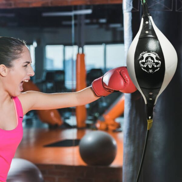 Boxing Fitness Muay Thai Double End Boxing Speed Ball Punching Bag Pear Inflatable Boxing Equipment Bodybuilding Fitness gym
